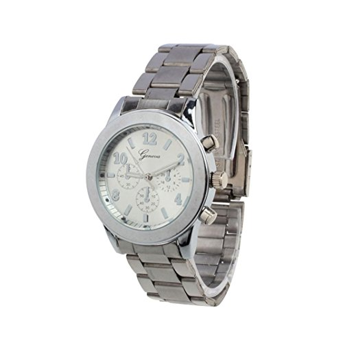Winhurn - Reloj de Pulsera para Mujer (Acero Inoxidable, Cuarzo)