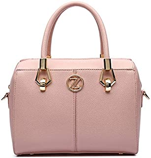 Zeneve London Olivia Satchel Bag For Women - Pink