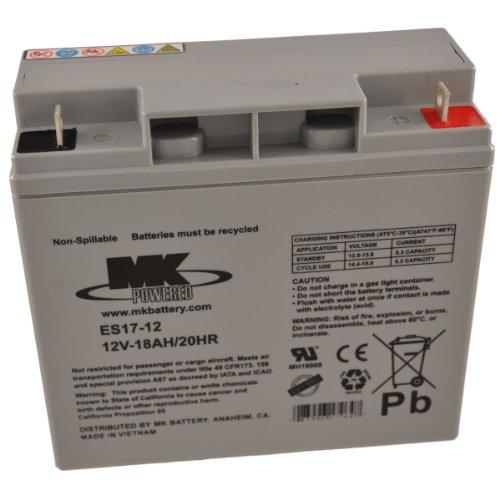 MK ES17-12 12V 18Ah Mk Sealed Lead Acid Agm Mobility Scooter Battery