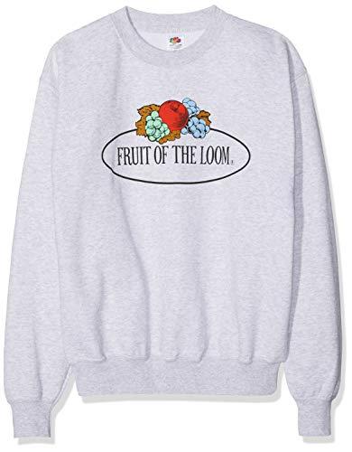 Fruit of the Loom 012202 Maglia di Tuta, Grigio (Grigio Melange 94), XXL Uomo