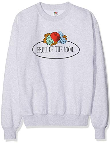 Fruit of the Loom 012202 Sudadera, Gris (Graumeliert 94), L para Hombre