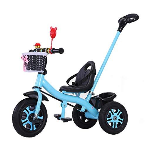NBgycheche Triciclo Trike Triciclo Triciclo, Triciclo Eco-Titanio de Pedales Plegables de múltiples Funciones de los niños Vacío de Ruedas, Triciclo del bebé al Aire Libre, 3 Colores (Color: Rosa)