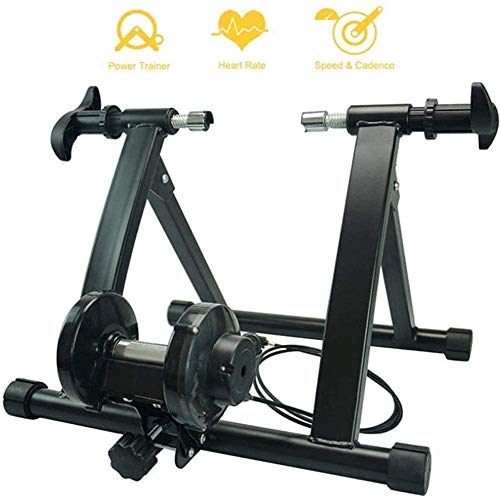 JLDN Indoor Bicycle Turbo Trainer, Bike Resistance Trainers w/ 7 Levels Resistance Bike Trainer Stand Quiet Noise Reduction for Mountain & Road Bikes,Black