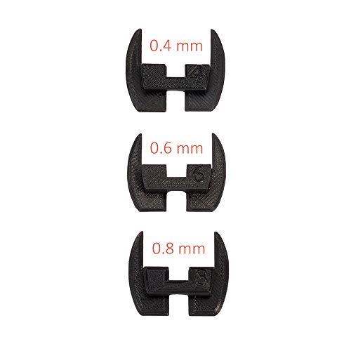Juntas de bisagra de dirección flexible, almohadillas, amortiguadores de vibración Xiaomi Mijia M365 / M187. Piezas 3D Negras