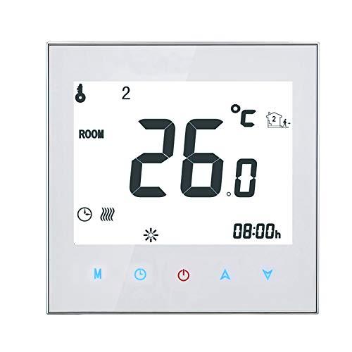 KKmoon Programmierbarer Heimthermostat mit WiFi für das Wasserheizsystem Smart Touchscreen Thermostat App- und Sprachsteuerung 95-240 V unterstützt für Amazon Echo Google Home Tmall Genie