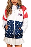 Tipsy Elves Red White and Blue USA Letters Windbreaker...