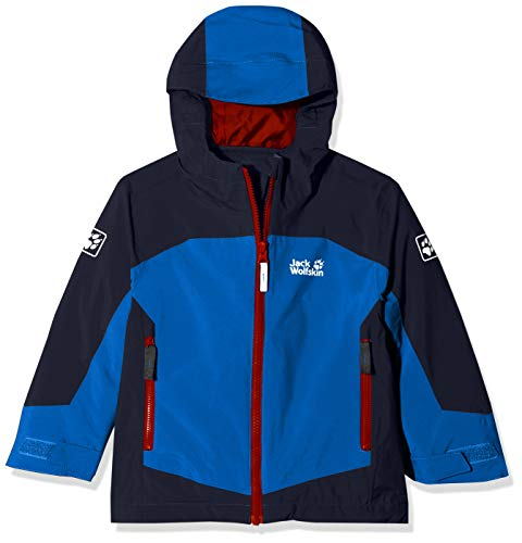 Jack Wolfskin Jungen ROPI 3IN1 Jacket Boys 3in1-jacke, Coastal Blue, 92