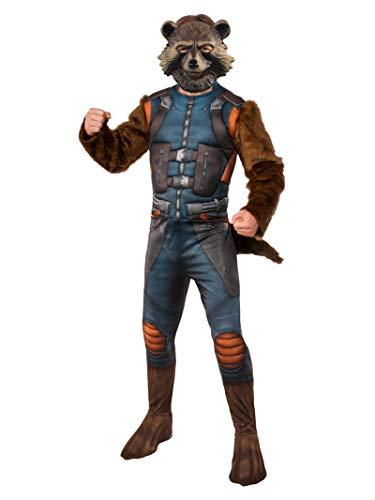 Rubies Disfraz Oficial de los Vengadores Endgame Rocket Raccoon, para Hombre Adulto