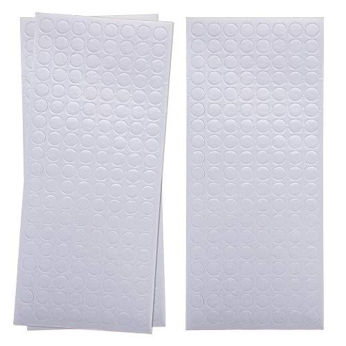 Baker Ross Puntos de Espuma de Doble Cara Adhesiva (paquete de 456) ideal para útiles escolares y suministros para manualidades y decoraciones para niños, blanco, AW343