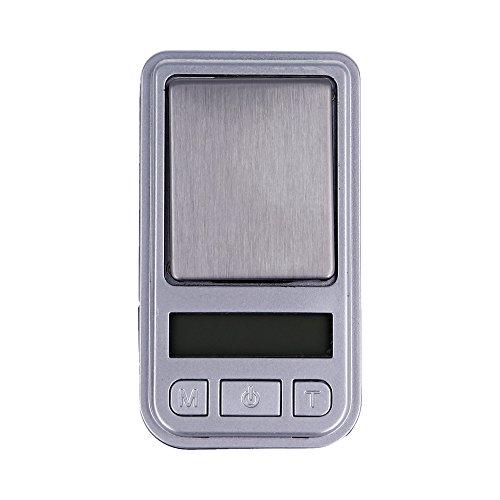 Mini Báscula Digital de Precisión, Rango de Pesaje de 0,01g a 200g, Balanza Portátil, Peso Joyero