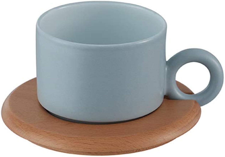JiuErDP Tasse à café m tasse en céramique à la maison tasse à café en céramique ▏ service à thé anglais l'après-midi Tasse à café (Couleur   bleu)