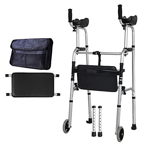 BSJZ Confíe en el Andador para Caminar para Personas Mayores Andador con Andador Soporte de pie para Personas Mayores Discapacitados, Pacientes obesos Marco para CAM