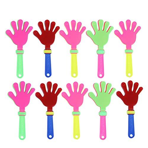 LIOOBO 20 stücke 19 cm Hand klatsche geräuschhersteller Kunststoff Palm klatschen gerät hände klatschen Party zubehör Party Favor für Sport Spiel durchführen (zufällige Farbe) Sportzubehör