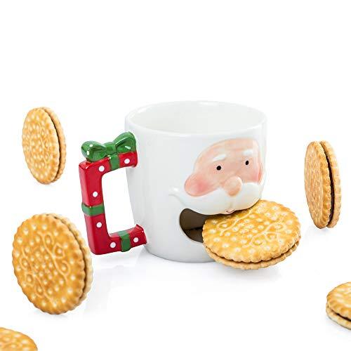 D-Mail Tazza Natalizia con Porta Biscotti - Babbo Natale