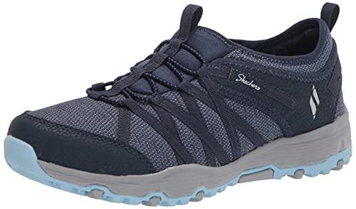 Skechers Modern Comfort Women's Seager Hiker-Topanga - Zapatilla deportiva, azul (Azul marino/flor y brillo), 36 EU