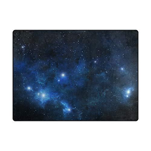 MONTOJ: Alfombra de Nebulosa para Zapatos de Galaxia, para decoración de habitación, Dormitorio, hogar, Alfombra, Resistente al Desgaste, poliéster, 2, 63 x 48 Inch