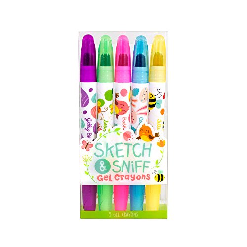 Spring Sketch & Sniff Scented Gel Crayons 5-Pack by Scentco