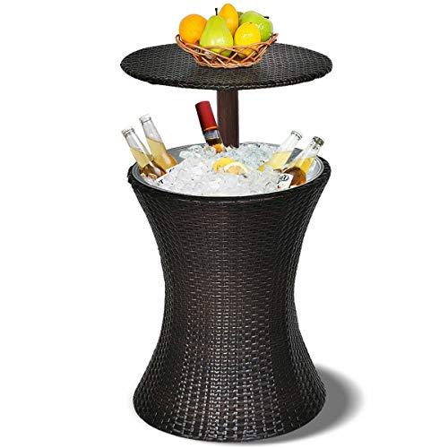 thebestshop99 Adjustable Outdoor Patio Rattan Ice Cooler Cool Bar Club Drink Storage...