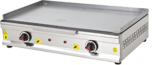 ADJUSTABLE TEMP CONTROL PROFESSIONAL ELECTRIC 28 '' (70 cm) Commercial Kitchen Countertop Flat Top Tabletop Restaurant Catering Bistro Grill Hot Plate for cooking BBQ Stove Cooktop Manual Griddle 220V