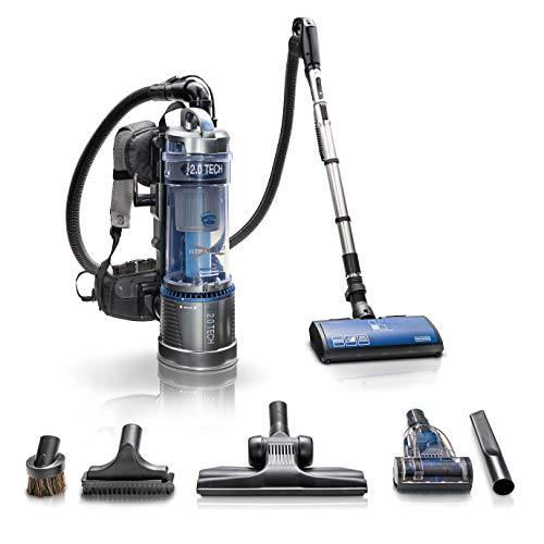 Prolux Lightweight 2.0 Bagless Backpack Vacuum w/Dual HEPA Shield Filtration Maneuverable Powernozzle and Multi Surface Floor Tool Kit