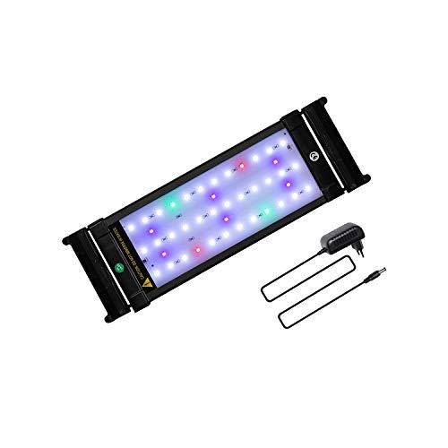 JOYHILL Luz LED Acuario, Pantalla LED Acuario, Iluminación LED para Acuarios Plantados Lámpara LED para Peceras 30-50cm