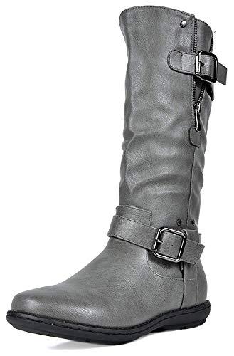 DREAM PAIRS Women's Wilder Grey Faux Fur Knee High Winter Snow Boots...