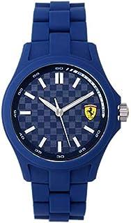 Ferrari Scuderia For Men Blue Dial Resin Band Watch - 830196, Analog Display