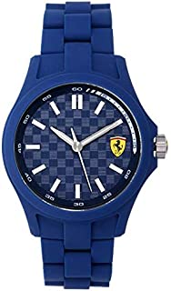 Ferrari Scuderia For Men Blue Dial Resin Band Watch - 830196, Analog Display