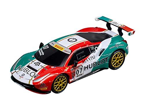 Carrera GO!!! Ferrari 488 GT3 Squadra Corse Garage Italia, No.7 Rennauto | Slotcar für Carrera Bahn GO!!! | Maßstab 1:43 | Spielzeug für Kinder ab 6 Jahre & Erwachsene