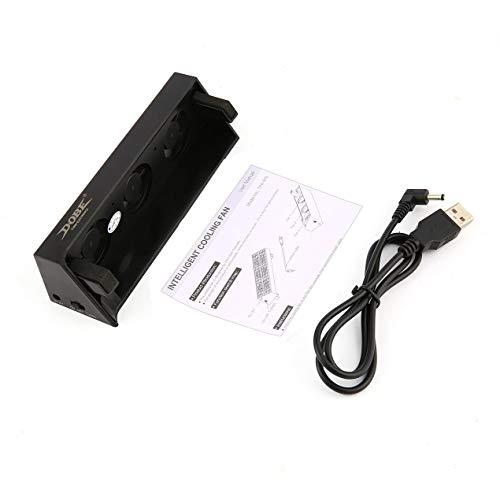 DBSUFV Ventilador de refrigeración USB Externo Super Turbo Enfriador de Temperatura Inteligente Extractor de Calor para Consola de Juegos PS4 Slim