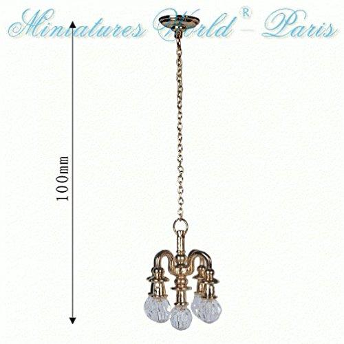 Miniatures World - Dummy kroonluchter in metaal en hars voor miniatuurdecors en poppenhuizen in schaal 1:12