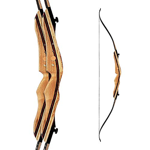 """LC Recurve Bow Martin Saber recurve Takedown rchery 62"""" Takedown Hunting 30-35Lbs Wood Limb with Fiberglass Face Right Hand"""