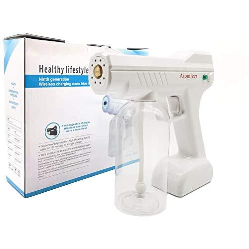 MAZI 800ml inalámbrico nebulización de la máquina de Vapor 1300W portátil BLU-Ray Nano Pistola para la desinfección, 2M Spray Rango y la batería de Litio Recargable eléctrico ULV pulverizador