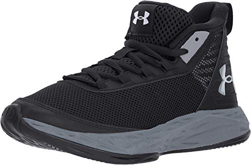 Under Armour Unisex-Kinder BGS Jet 2018 Basketballschuhe, Schwarz (Black 3020948-002), 35.5 EU
