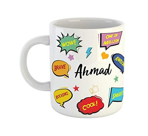 ARTBUG™ Ahmad Name Ceramic Coffee Mug