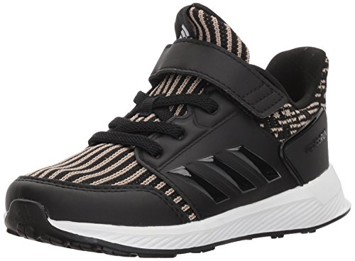 adidasRapidaRun KNIT I - Rapidarun Knit I - En maille mixte enfant Garçon , Noir (Core Black, Core Black,white), 23.5 EU