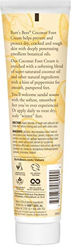 Burt's Bees Coconut Oil Foot Cream, 4.3 Oz (Package May Vary)