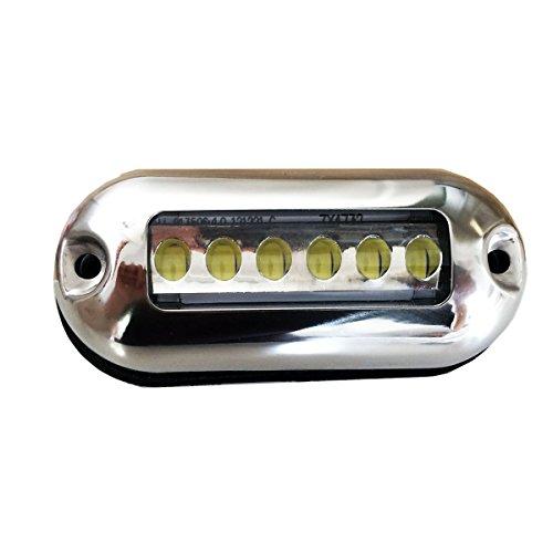 LIGHTEU, 2,5W LED éclairage bleue sous-marin, pour bateaux Marine Yachtfish inoxydable12V, 2,5W, IP68 lumière bleue