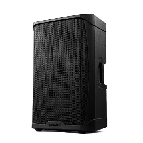 Gemini Sound GD-115BT Professional DJ Audio Equipment 15' Inch Woofer 1000W Watts Active Bluetooth PA System Speaker, Class D Amplifier and Built in 3- Channel Audio Mixer w/Handles