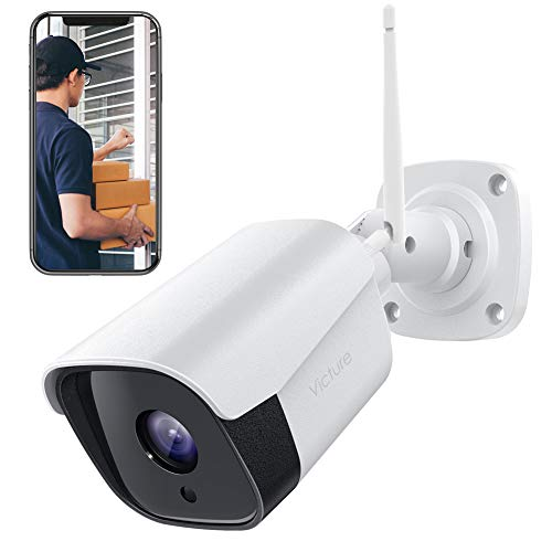 Victure 1080P Wireless Outdoor Security Camera 2.4G Bullet WiFi Security Camera with IP66 Weatherproof Motion Detection Night Vision 2-Way Audio Compatible with iOS/Android System Bullet Cameras