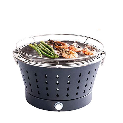WAHHW draagbare barbecue voor huishoudelijk gebruik, Koreaanse barbecue, fornuis, elektrische föhn rookloze houtskool grill, voor outdoor barbecue familie partyanti-bruh