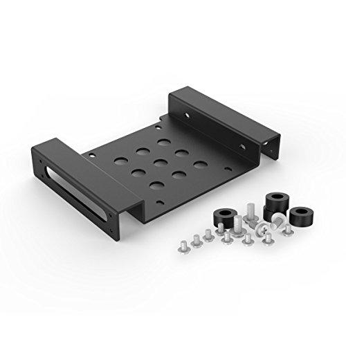 ORICO Adaptador de montaje de 2,5 / 3,5 pulgadas HDD / SSD de aluminio para adaptarse a la bahía de PC de 5,25 pulgadas - Negro
