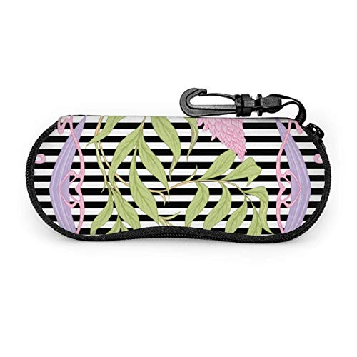 lymknumb blühende rosa Akazie im Jugendstil Stil Brillenetui Brillenetui Box Tragbares Brillenetui Tragbares Brillenetui mit Schlüsselschloss