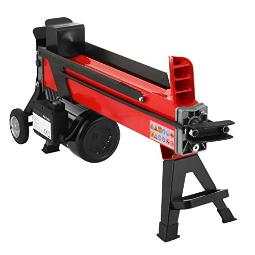 OrangeA Log Splitter 7 Ton 3400RPM Electric Log Splitter with 7' Wheels Hydraulic Wood Splitter Can Split Wood Easily (7 Ton)