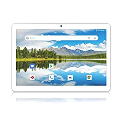 Image of Android Tablet 10 Inch, Dual SIM Card Slots with 32GB Storage, Quad-Core Processor, WiFi, Bluetooth, GPS HD Touch Screen: Bestviewsreviews