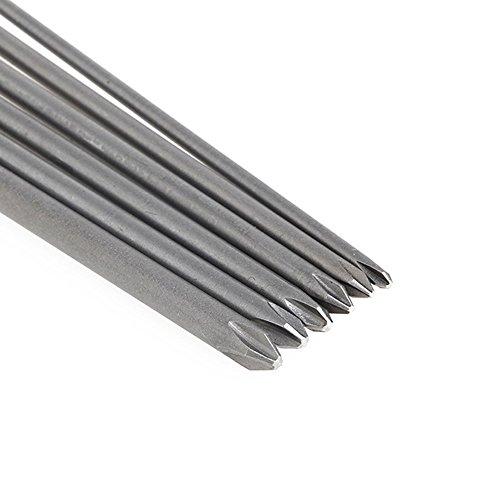Yakamoz 6Pcs 1/4 Hex Shank Magnetic Cross Phillips Screw Head Screwdriver Bits Set Power Tools | 5.9-Inch Length