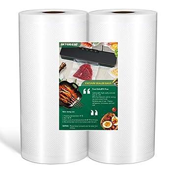 Food Grade Material 8 x50 feet Rolls 2 Pack Vacuum Sealer Bags for Food Saver Seal a Meal Weston Commercial Grade BPA Free Meal Prep or Sous Vide