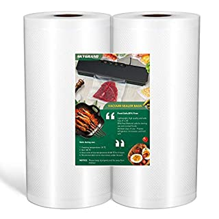 """Food Grade Material 8""""x50 feet Rolls 2 Pack Vacuum Sealer Bags for Food Saver, Seal a Meal, Weston. Commercial Grade, BPA Free, Meal Prep or Sous Vide (B088QWKKRS) 