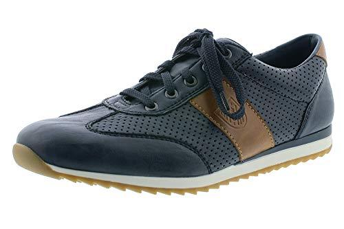 Rieker Hombre Zapatos Bajos 19321, de Caballero Bajo,Zapatos Bajos,Cordones,Zapatos de Calle,Negocios,Ocio,Azul (Blau Kombi / 14),43 EU / 9 EU