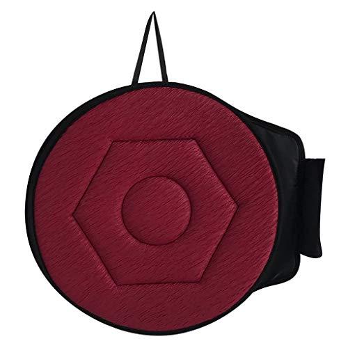 Fenteer Drehkissen Autositz Drehbares rotierendes Sitzkissen Einstiegshilfe Senioren Sitzauflage Autositzkissen Drehsitz - Rot Diamanten